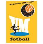 Poster Svjetskog nogometnog prvenstva održanog u Švedskoj 1958. godine